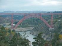 und der Viadukt von Garabit, gebaut von Gustave Eiffel